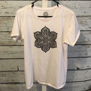 Life Is Good White Mandela Tee Shirt Size Large